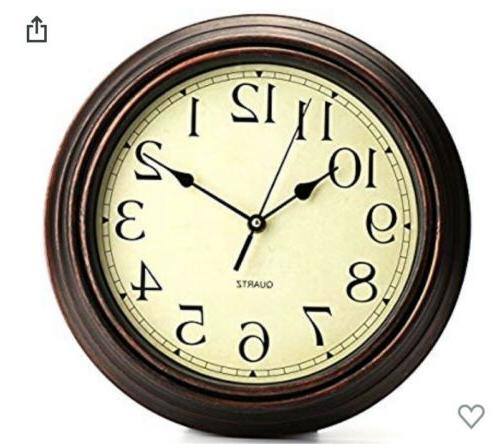 12inch round classic clock retro non ticking