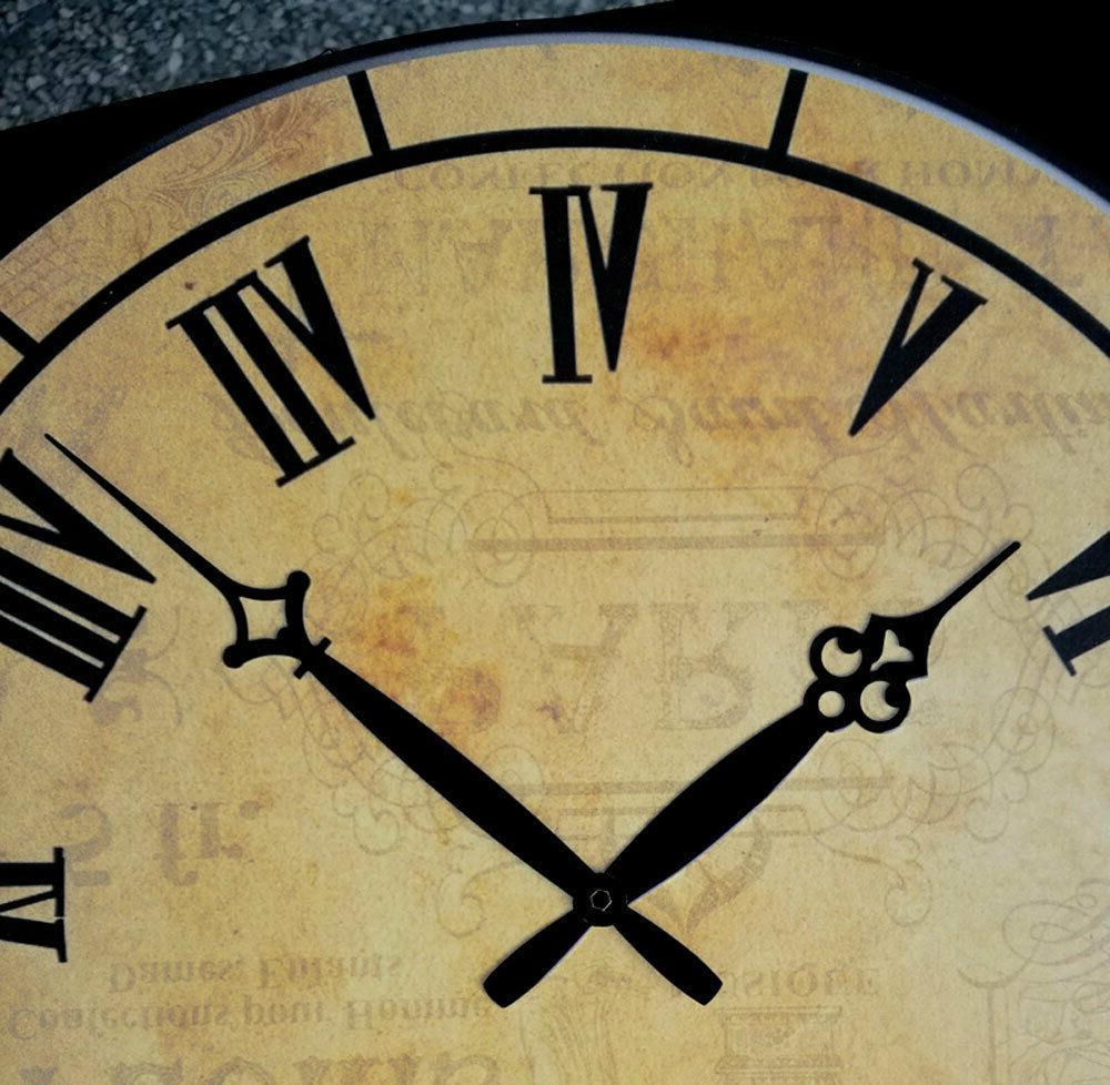 """15"""" Large Retro Room Clocks Home Decor Antique Time"""