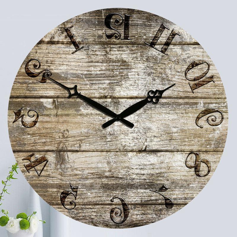 "15"" Wall Clocks Large Room Home Silent Decor Work"