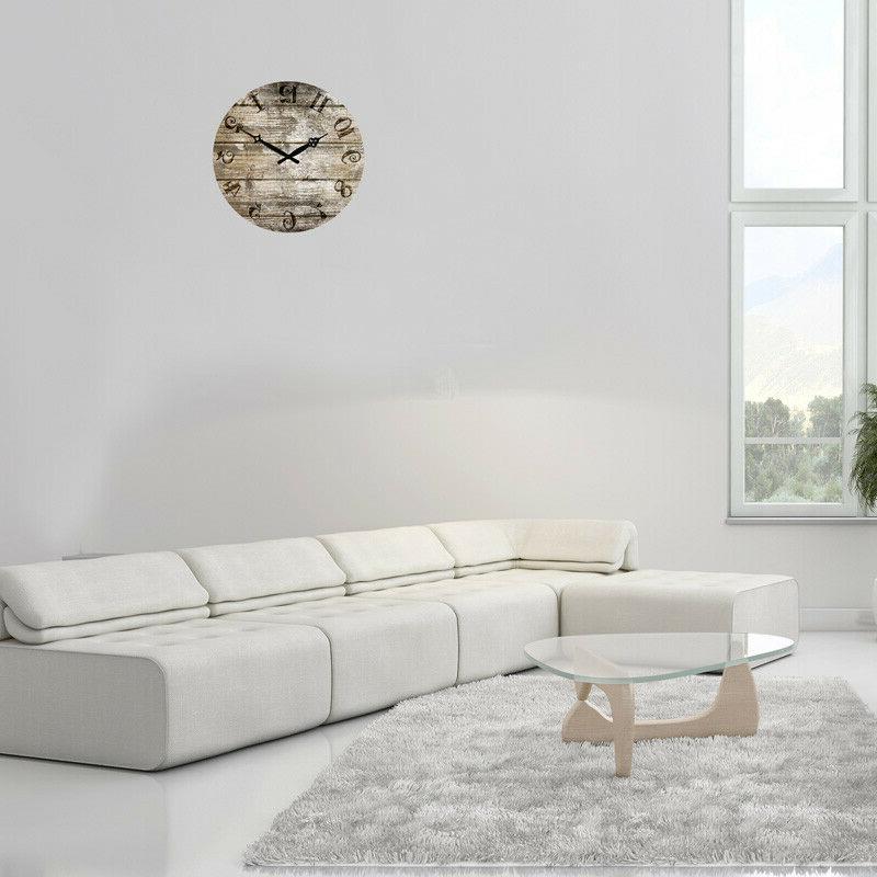 "15"" Wooden Large Decor Retro Clock Work"