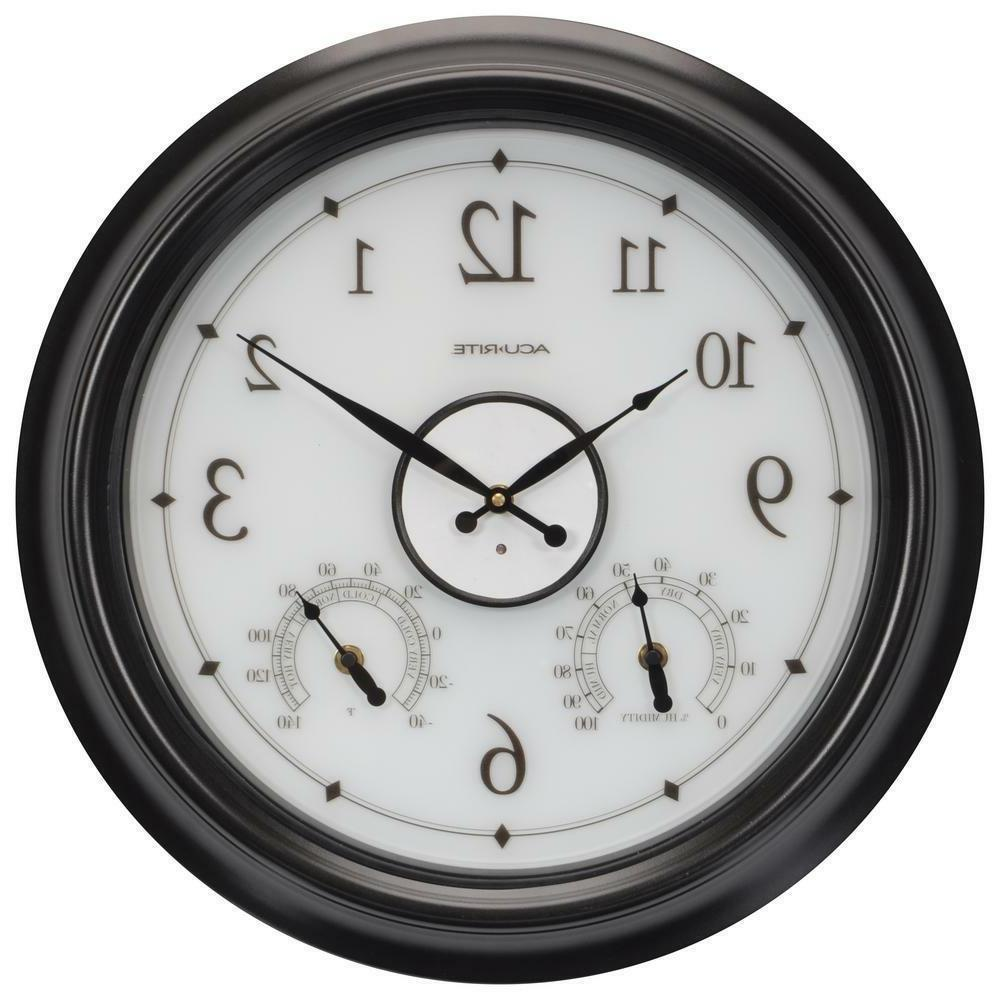 18 in led illuminated outdoor clock
