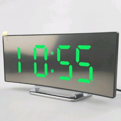 Night Alarm Digital LED Operated Mirror