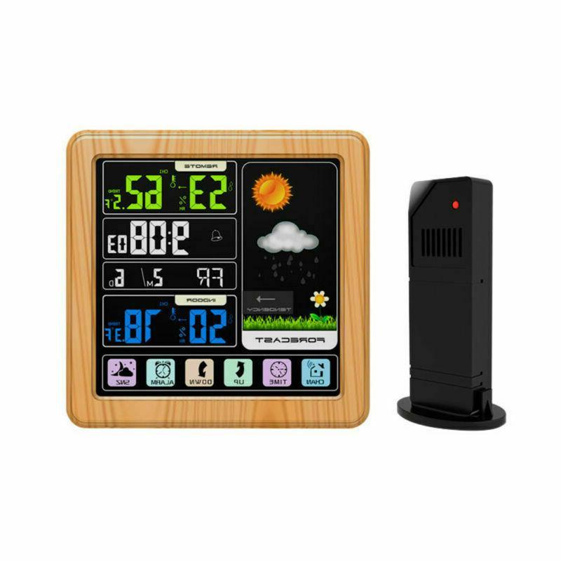 1pc weather clock home digital indoor wireless