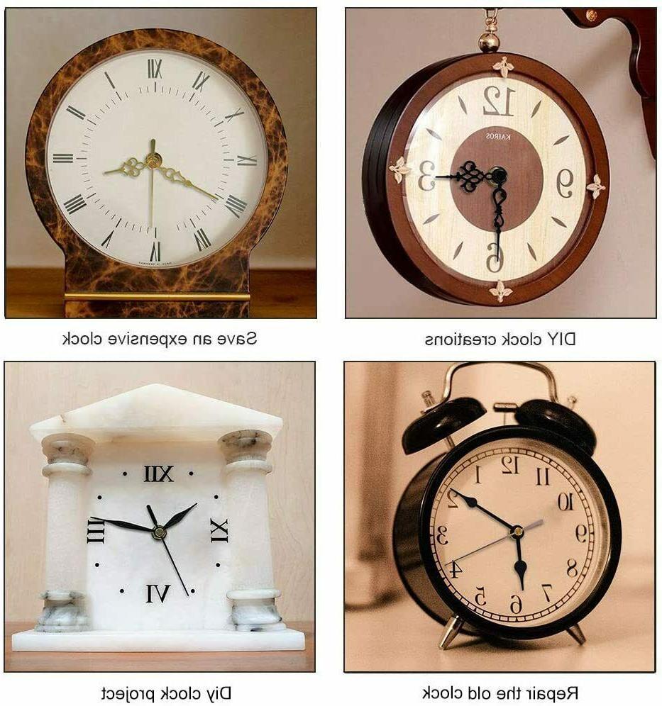 2 Pack Clock Mechanism of Short Silent