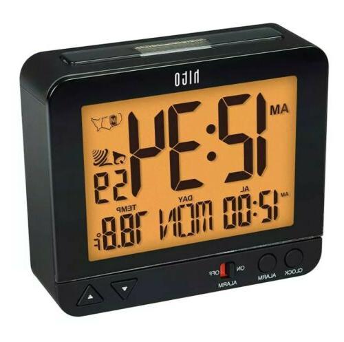 3 8 digital battery atomic alarm clock