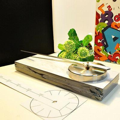 3D DIY Frameless Wall Clock Mirror Number Sticker Modern Decal Decor