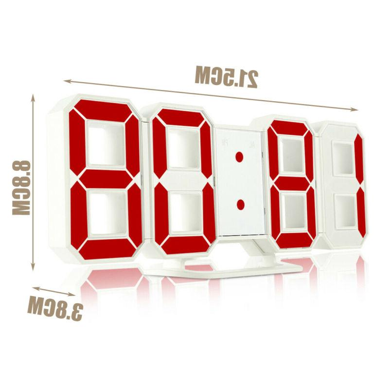 3D Modern Digital LED Alarm Table Hour Display