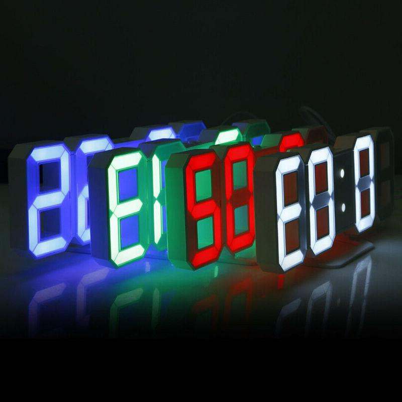 3D Modern Design LED Clock Alarm Display