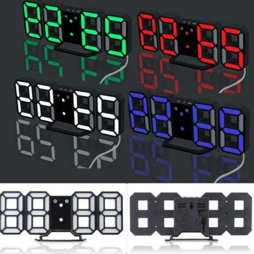 3D Design Led Wall Alarm Table Hour Display SC
