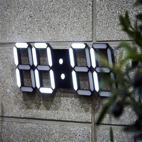3D Led Wall Clock Alarm Table SC