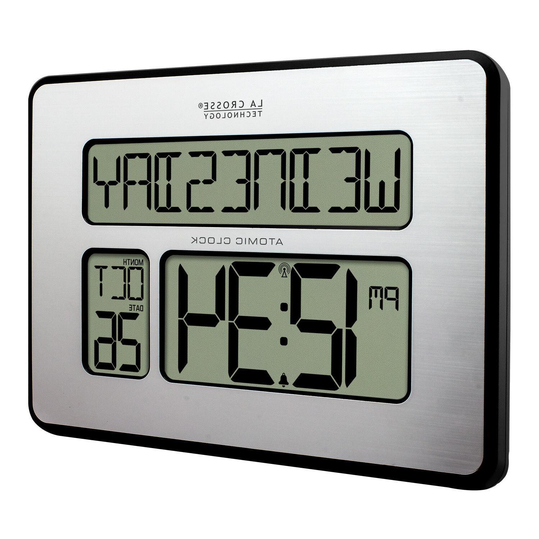 Large Numbers Atomic Digital Wall Clock Temp