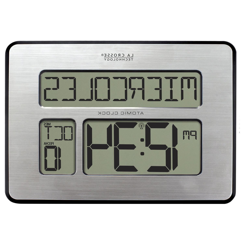 "513-1419 La Crosse Large 2"" Numbers Digital Wall Clock IN Temp"