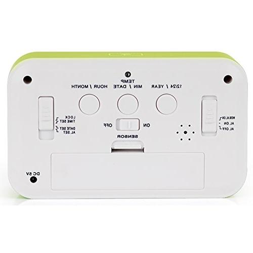 HITO™ Alarm w/ Date and Display, Repeating Nightlight-