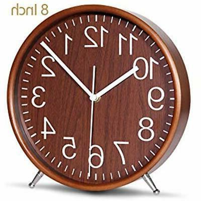 8 desk and shelf clocks inch wood