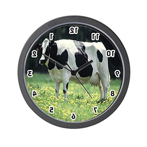 "CafePress - Holstein Cow - Unique Decorative 10"" Wall Clock"