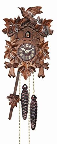 River City Clocks 12 Melody Quartz Cuckoo Clock with Five Le