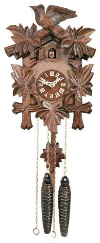 River City Clocks One Day Hand-Carved Cuckoo Clock with Five
