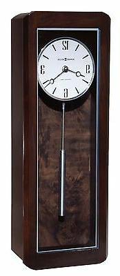 Howard Miller 625-583  Aarom Wall Clock - Black Coffee