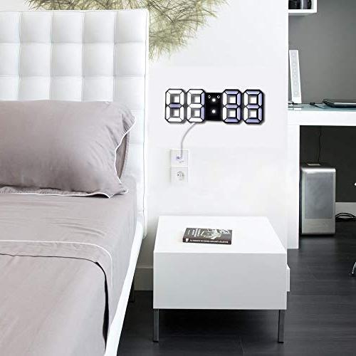 EVILTO Clock+ Charging Light LED Time for The Wall, Bedside, Desk. Modern Design Alarm Clock