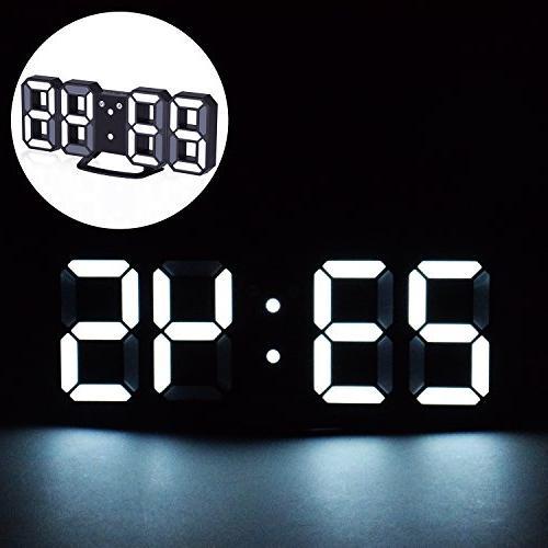 EVILTO Digital Clock+ Light LED Number for The Wall, Table, Bedside,