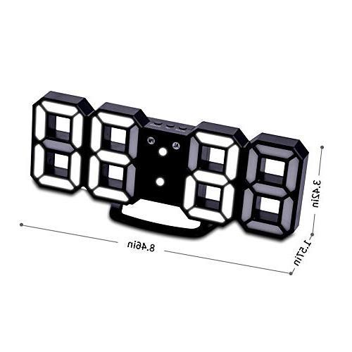 EVILTO Digital Clock+ Light LED Number for Table, Bedside, Desk. Design