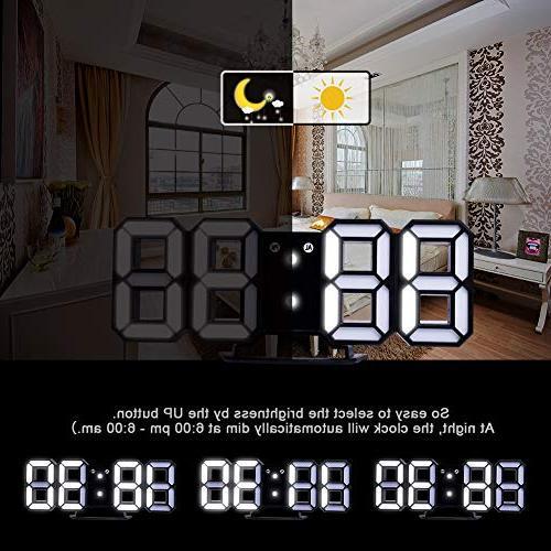 Clock+ Plugs,Modern LED for Wall, Design Clock (White/Black)