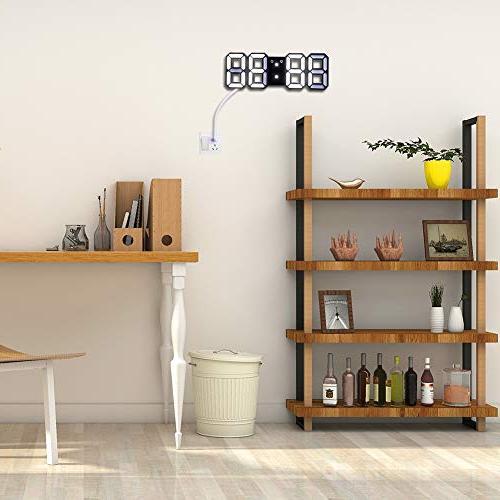 EVILTO 3D Digital Alarm Clock+ Light Clock, LED Time Clock for The Table, Bedside, Desk. Modern Design Alarm Clock