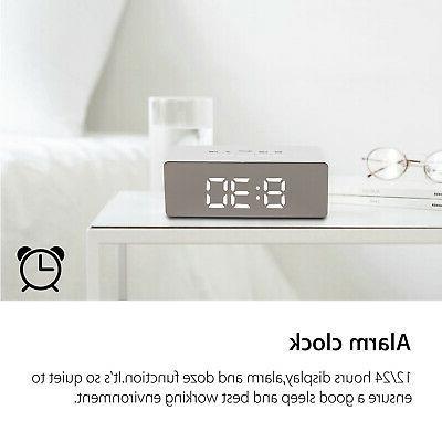 Alarm Digital Display Portable Modern Mirror