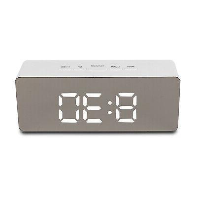 Alarm Clock Digital LED Display Mirror