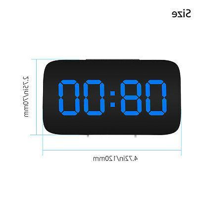 Alarm Clock LED Display Sound Control