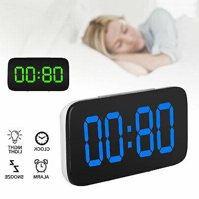 alarm clock large digital led display usb