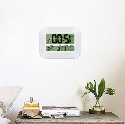 HeQiao 12 Clock Large w/Temperature Date Day for Home Office