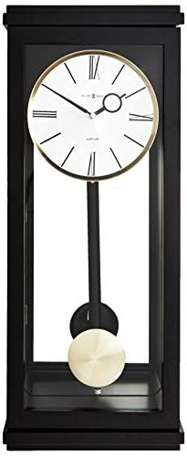 Howard Miller 625-440  Alvarez Wall Clock  - Black Satin
