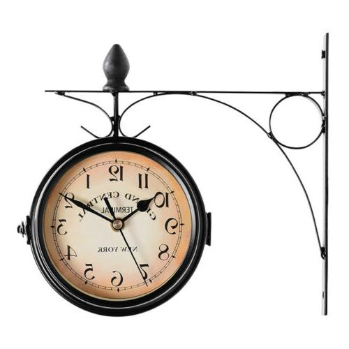 Retro Antique Double Wall Hanging Outdoor Station Battery