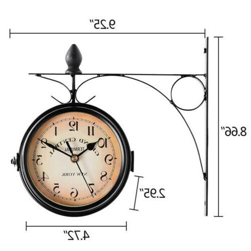 Retro Double Wall Clock Station
