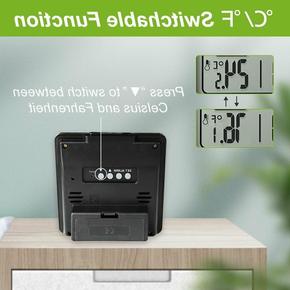 BALDR B0114 Atomic Alarm Clock LCD with Calendar Snooze Indoor