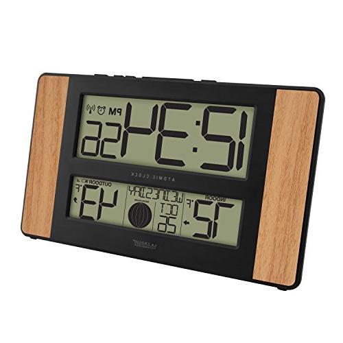 La 513-1417 Atomic Clock Outdoor Temperature,