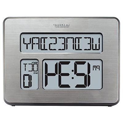 atomic full calendar clock with extra large