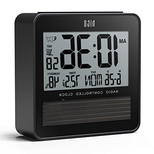 hito Atomic Clock Day Indoor Backlight Repeating Timezones