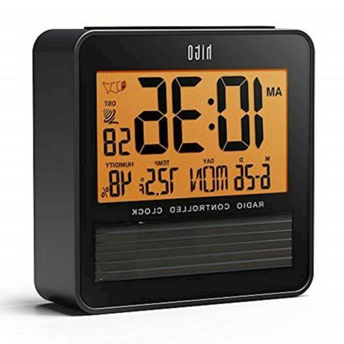 "Hito 3.7"" Digital Battery Atomic Bedside Travel Alarm"