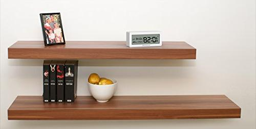 KADAMS Battery Clock with Calendar Temperature and Low Battery Indicator, Travel for Shelf White