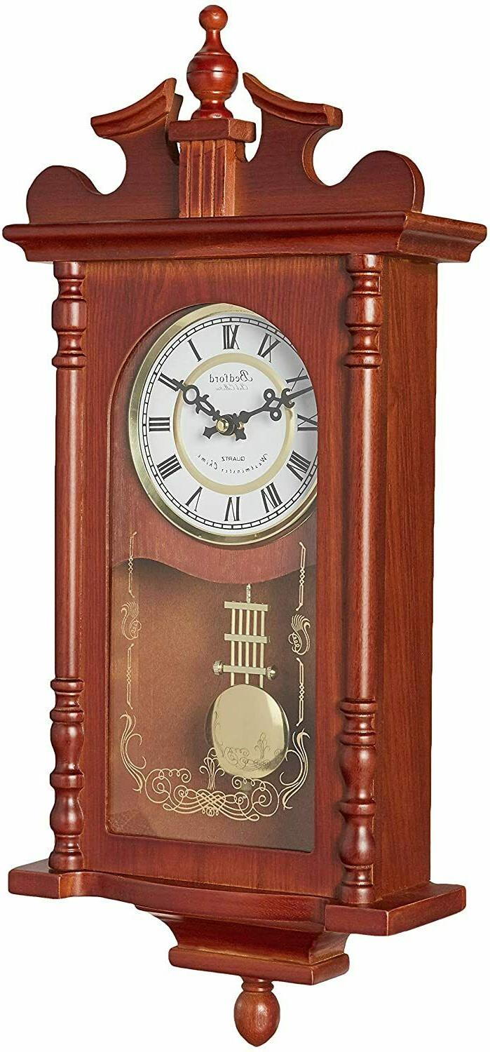 """Bedford Finish 25"""" Clock with and Chimes"""