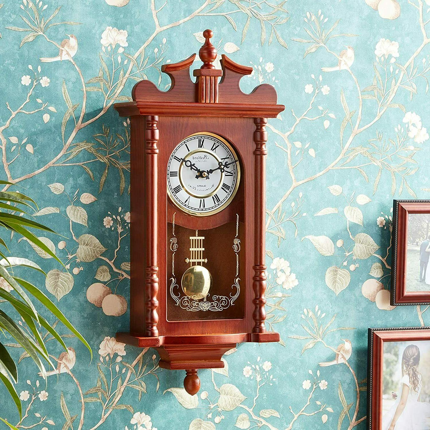 """Bedford BED1424RW Finish 25"""" Clock with Chimes"""