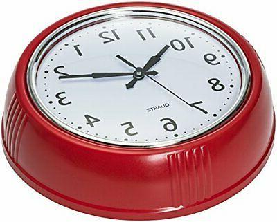 Bernhard Retro Clock Red Kitchen Vintage