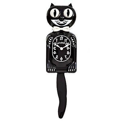 """BLACK CLOCK 12.75"""" Battery IN USA Kit-Cat Klock"""