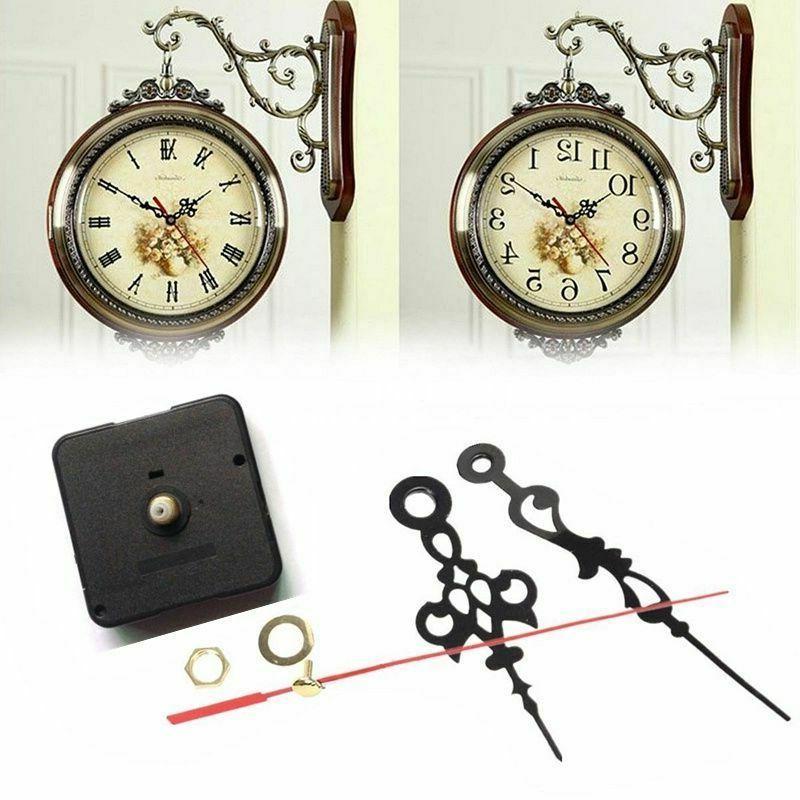 Black Wall Clock Quartz Movement DIY Mechanism Battery Opera