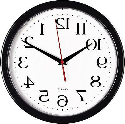 black wall clocks