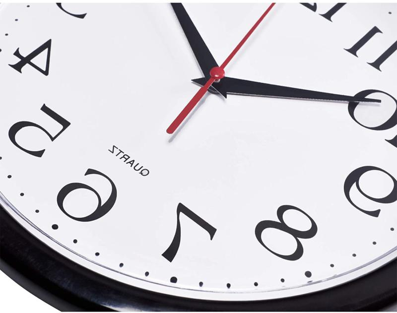 Large Wall Clock Silent Indoor Battery Analog For