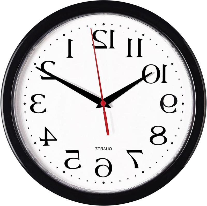 large wall clock silent indoor outdoor battery