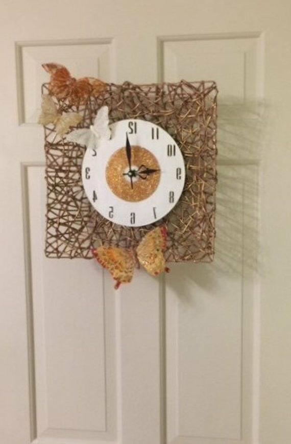 butterfly basket clock